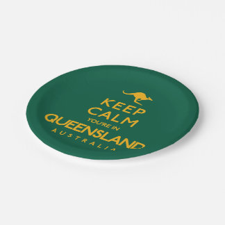 Houd Kalm u zijn in Queensland! Papieren Bordje