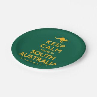 Houd Kalm u zijn in Zuid-Australië! Papieren Bordje