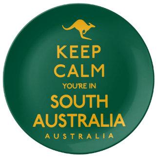 Houd Kalm u zijn in Zuid-Australië! Porseleinen Bord