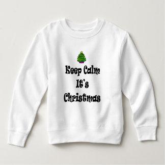 Houd Kalm Zijn Kerstmis en Boom Kinder Fleece