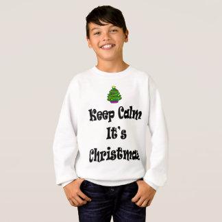 Houd Kalm Zijn Kerstmis en Boom Trui
