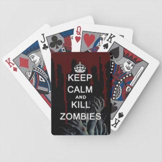 houd kalme en dodenzombieën poker kaarten