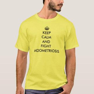 Houd Kalme en Endometriosis van de Strijd T Shirt