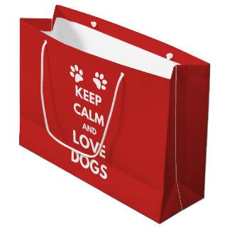 Houd kalme en liefdehonden groot cadeauzakje