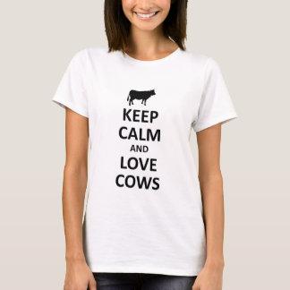 houd kalme en liefdekoeien t shirt