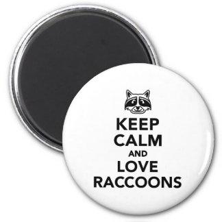 Houd kalme en liefdewasberen ronde magneet 5,7 cm
