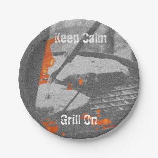 Houd Kalme Grill - de Borden van het Document Papieren Bordje
