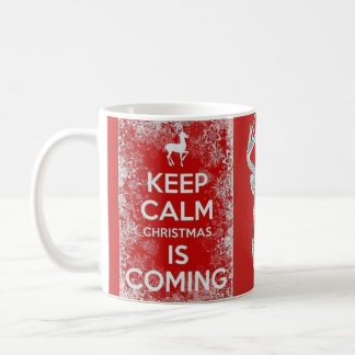 Houd Kalme het rendiermok van de Vakantie van Koffiemok