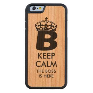 Houd Kalme Koningin B Kersen iPhone 6 Bumper Case