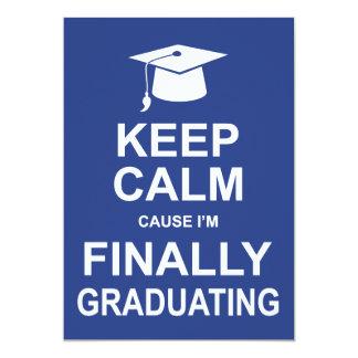 Houd Kalme Oorzaak ik definitief een diploma 12,7x17,8 Uitnodiging Kaart