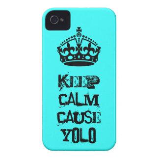 Houd Kalme Oorzaak Yolo iPhone 4 Covers