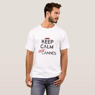 Houd Kalme versie 1 van Cannes van de Liefde van I T Shirt