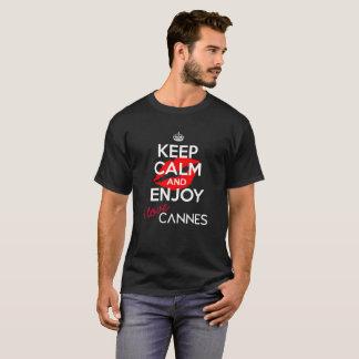 Houd Kalme versie 3 van Cannes van de Liefde van I T Shirt