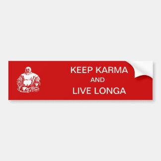 houd karma bumpersticker