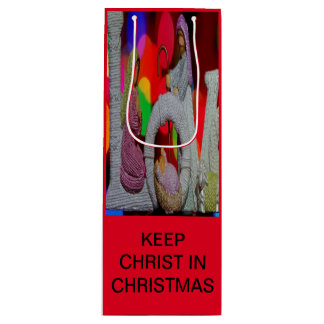 Houd Kerstmis van Christus n met de Geboorte van Wijn Cadeautas