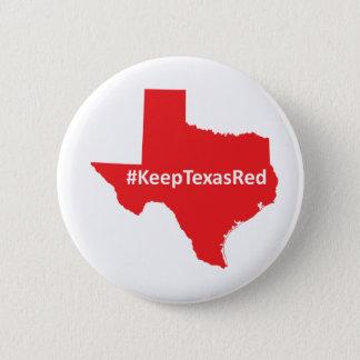 Houd Knoop van de Campagne van Texas de Rode Ronde Button 5,7 Cm