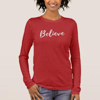 Houd nooit op gelovend t shirts