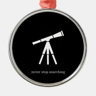 Houd nooit op zoekend Telescoop Zilverkleurig Rond Ornament