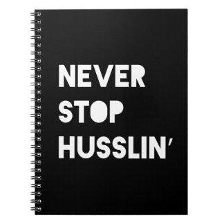 Houd nooit Zwart Wit Motivatie Citaat Husslin Ringband Notitieboek