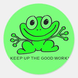 Houd omhoog het grote werk! Sticker