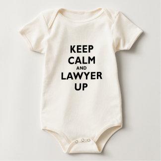 Houd omhoog Kalm en Advocaat Baby Shirt