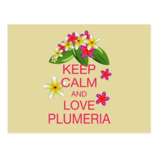 Houd Ontwerp van de Kunst van Kalme en Plumeria Briefkaart