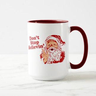 Houd op gelovend geen Kerstmis Mok