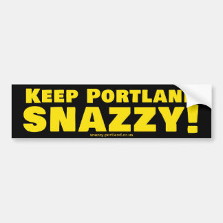 Houd Portland Snazzy! Bumpersticker