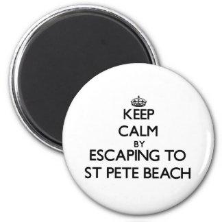 Houd rust door aan St Pete Beach Florida te Magneet