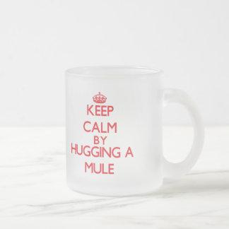 Houd rust door een Muilezel te koesteren Matglas Koffiemok