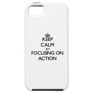 Houd Rust door zich op Actie te concentreren iPhone 5 Covers