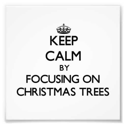 Houd Rust door zich op Kerstbomen te concentreren Fotoafdruk