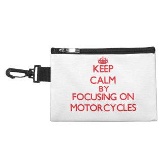 Houd rust door zich op op Motorfietsen te concentr