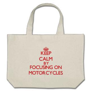 Houd rust door zich op op Motorfietsen te concentr Canvas Tas