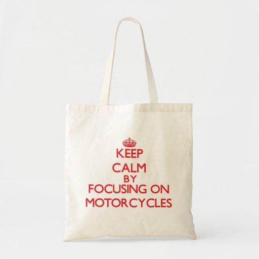 Houd rust door zich op op Motorfietsen te concentr Draagtassen