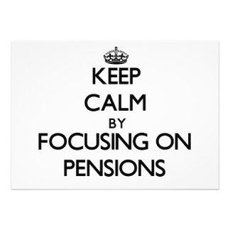 Houd Rust door zich op Pensioenen te concentreren