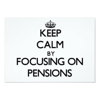 Houd Rust door zich op Pensioenen te concentreren Aankondigingen