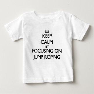 Houd Rust door zich op Sprong Roping te Baby T Shirts