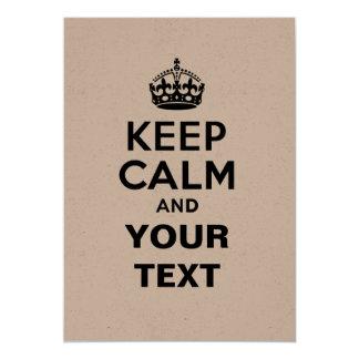 Houd Rust met Uw Tekst 12,7x17,8 Uitnodiging Kaart