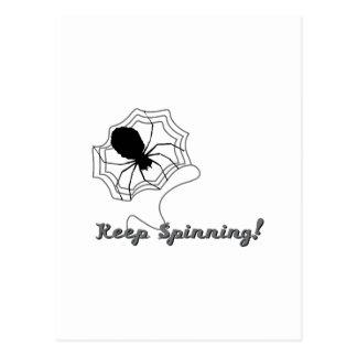Houd spinnend briefkaart