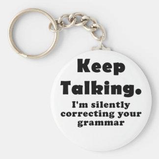 Houd sprekend Im stil Verbeterend uw Grammatica Sleutelhanger