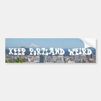 Houd Sticker van de Bumper van Portland de Bizarre
