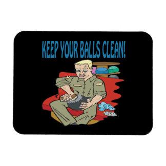 Houd Uw Ballen Schoon Vinyl Magneet