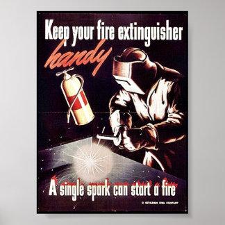 Houd Uw Brandblusapparaat Handig Poster