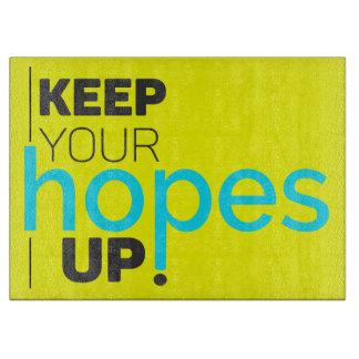 Houd Uw Hoop op Typografie Snijplank