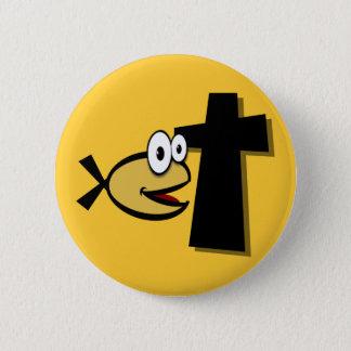 Houd Uw Ogen op het Kruis Ronde Button 5,7 Cm