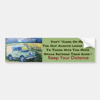 Houd Uw Sticker van de Bumper van de Afstand