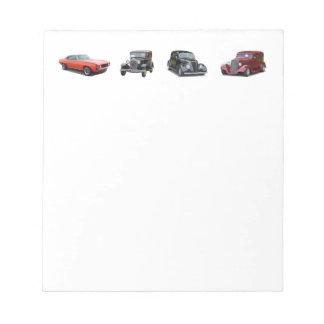 houd van die oude klassieke auto's notitieblok