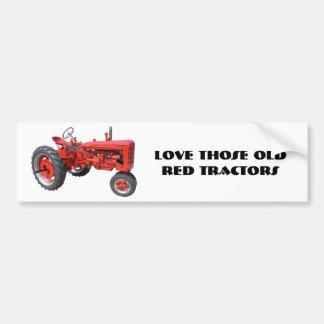 Houd van Die Oude Rode Tractoren Bumpersticker