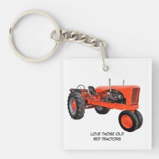 Houd van Die Oude Rode Tractoren Sleutelhanger